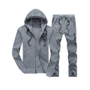 Zip Up Graphic Hoodie and Sweatpants