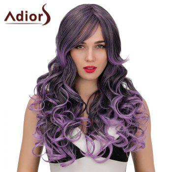 Adiors Hair Long Side Bang Wavy Double Color Synthetic Wig
