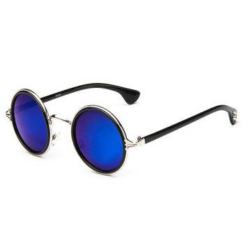Gothic Cross Round Mirror Sunglasses