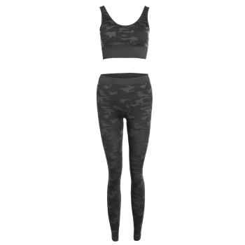 Camouflage Bra With Yoga Leggings - CAMOUFLAGE S