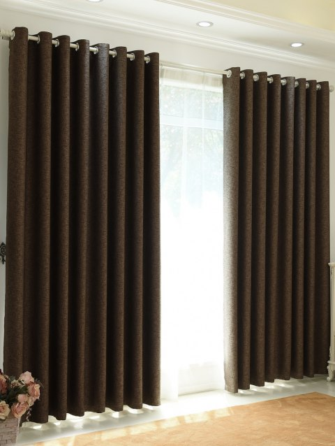 1Pcs Home Decor Shading Blackout Perforated Window Curtain - DUN 100*270CM