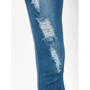 Midi Rise Distressed Pencil Jeans - XL XL