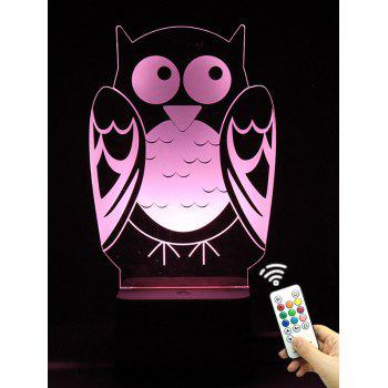 3D Visual LED Remote Control Touch Colorful Owl Night Light