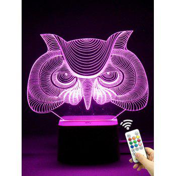 Color Changing Remote Control 3D Owl LED Night Light