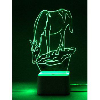 Color Changing 3D Animal Led Night Light with Remote Control - TRANSPARENT