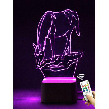 Color Changing 3D Animal Led Night Light with Remote Control
