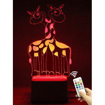 Remote Control Color Change 3D Giraffe LED Night Light