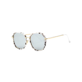 Street Marble Oversized Square Mirrored Sunglasses