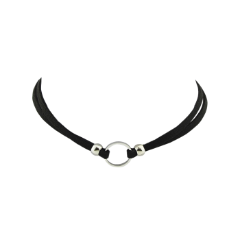 Punk Style Faux Leather Round Choker