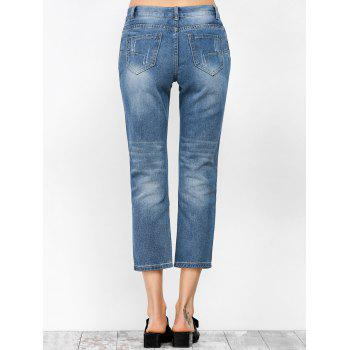 Ripped Cropped Jeans - XL XL