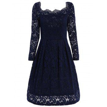 Off The Shoulder Lace Swing Dress
