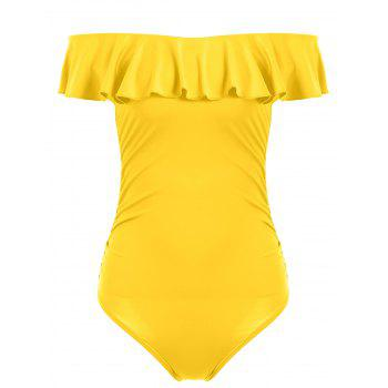 Off The Shoulder Ruffle One Piece Swimsuit