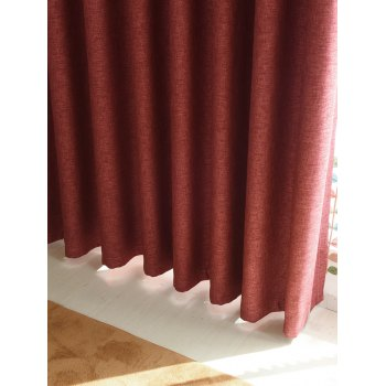 1Pcs Home Decor Shading Blackout Perforated Window Curtain - BRICK RED BRICK RED
