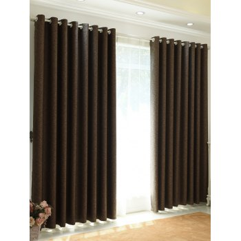 1Pcs Home Decor Shading Blackout Perforated Window Curtain - DUN 100*250CM