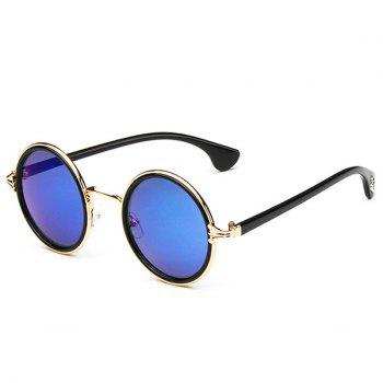 Gothic Cross Double Rims Mirrored Sunglasses