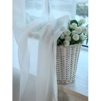 Concise Style Voile Perforated Living Room Window Curtain - WHITE 100*270CM