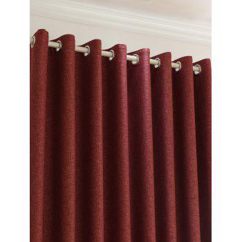 Home Decor Shading Blackout Perforated Window Curtain - Brique rouge 100*270CM