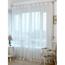 Concise Style Voile Perforated Living Room Window Curtain