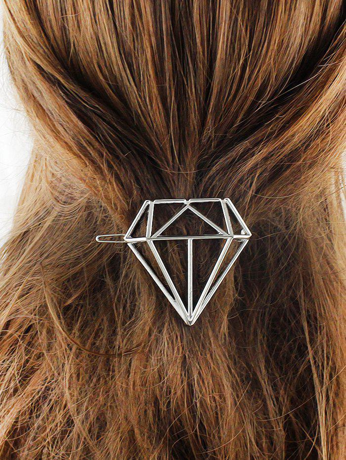 Hollow Out Diamond Shape Hairpin