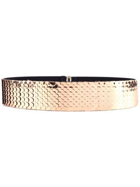 Stylish Fish Scale Sheetmetal Elastic Waistband For Women - GOLDEN