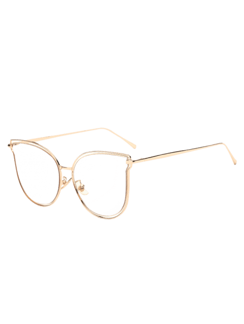 Travel Hollow Out Double Frames Butterfly Shaped Sunglasses - TRANSPARENT