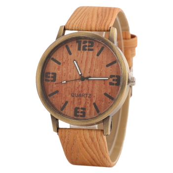 Vintage Wooden Pattern Watch