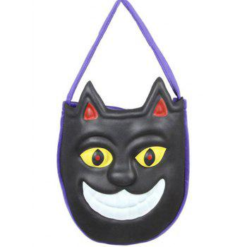 Halloween Color Block Mask Pattern Handbag