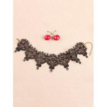 Punk Crochet Lace Choker - BLACK