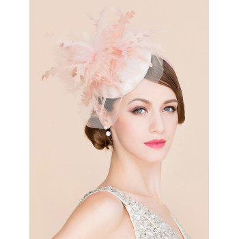 Elegant Feather Lace Fascinator Headband Wedding Banquet Party Pillbox Hat