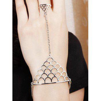 Hollow Out Fish Scales Shape Bracelet With Ring