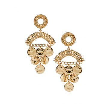 Pair of Round Piece Tassel Earrings
