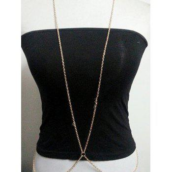 Chic Simple Style X Shape Body Chain For Women