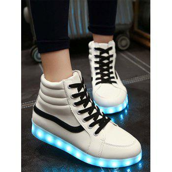 Trendy Led Luminous and High Top Design Women's Sneakers