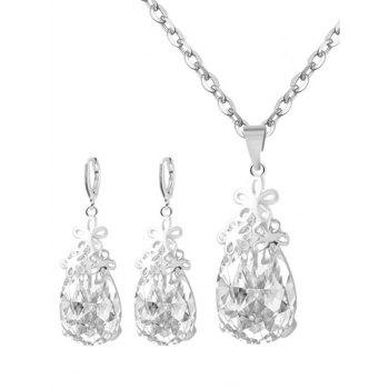 Floral Water Drop Wedding Jewelry Set