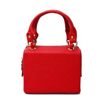Laconic Solid Color and Zipper Design Tote Bag For Women