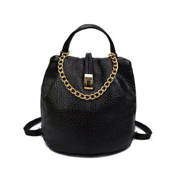 Trendy Chains and PU Leather Design Satchel For Women