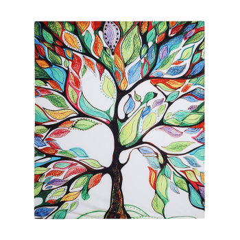 Colorful Tree Off Life Tapestry Beach Throw