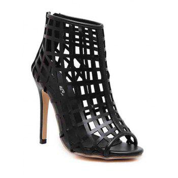 Sexy Hollow Out and Stiletto Heel Design Peep Toe Shoes For Women - 37 37