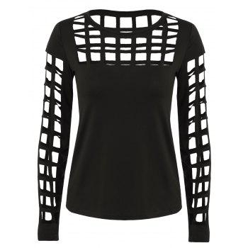 Manches longues Ripped Cutout Tee