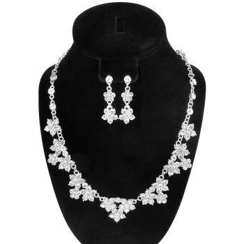 Faux Crystal Floral Wedding Jewelry Set