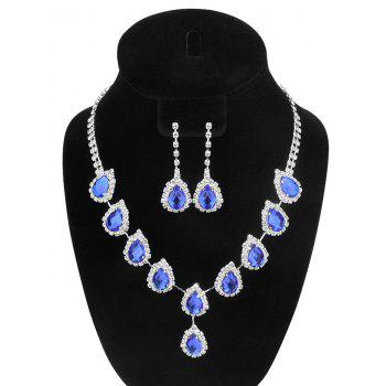 Teardrop Faux Crystal Wedding Jewelry Set