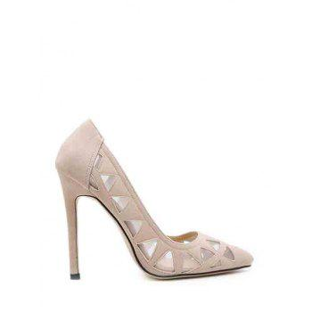 Sexy Hollow Out and Geometric Design Pumps For Women - APRICOT 39