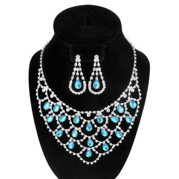 Teardrop Rhinestone Jewelry Set