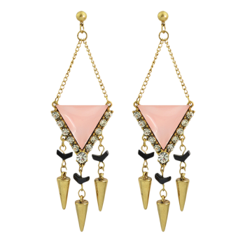 Rhinestone Geometric Chandelier Earrings