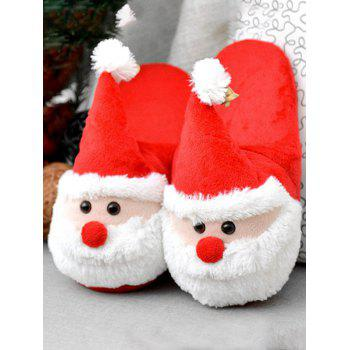 Color Block Flock Christmas Slippers - SIZE(39-40) SIZE(39-40)