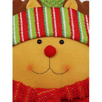 Reindeer Cushion Cover Christmas Star Pillow - YELLOW