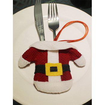 Christmas Santa Clothes Knives and Forks Bag Table Decoration