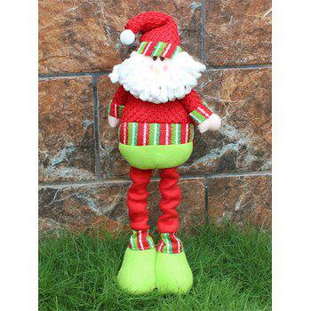 Novelty Children Gift Christmas Santa Claus Puppet Toy - RED AND GREEN RED/GREEN