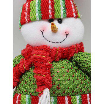 Novelty Children Gift Christmas Snowman Claus Puppet Toy - RED/GREEN
