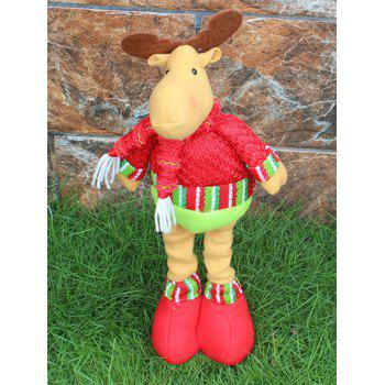 Novelty Children Gift Christmas Deer Claus Puppet Toy